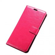 Crazy Horse Magnetic Wallet Leather Stand Case for LG G4 Stylus - Rose