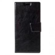 Crazy Horse Leather Card Holder Case for Lenovo K3 Note K50-t5 / A7000 - Black