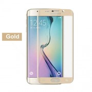 Tempered Glass Curved Screen Protector Guard Film for Samsung Galaxy S6 Edge G925 (Asashi Glass) - Gold