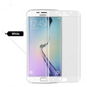 Tempered Glass Curved Screen Protector Guard Film for Samsung Galaxy S6 Edge G925 (Asashi Glass) - White