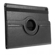 Litchi Texture Leather Flip Case Rotary Stand Cover for iPad Pro 9.7-inch - Black