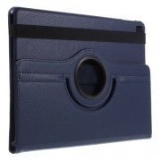 Litchi Texture Rotary Stand Leather Case for iPad Pro 9.7-inch - Dark Blue