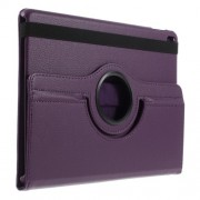 Litchi Texture Leather Flip Cover with Rotary Stand for iPad Pro 9.7 - Purple