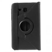 Περιστρεφόμενη Δερμάτινη Θήκη Βιβλίο με Βάση Στήριξης για Samsung Galaxy Tab A 7.0 T280 T285 - Μαύρο