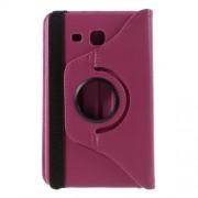 Περιστρεφόμενη Δερμάτινη Θήκη Βιβλίο με Βάση Στήριξης για Samsung Galaxy Tab A 7.0 T280 T285 - Φούξια