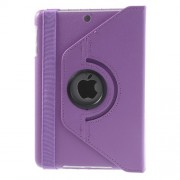 360 Rotary for iPad Mini / iPad Mini 2 Lychee Leather Smart Case w/ Stand - Light Purple