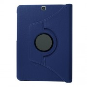 Lychee Skin Leather Rotary Stand Protective Case for Samsung Galaxy Tab S2 9.7 - Dark Blue