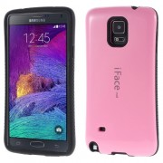 IFACE Mall Θήκη Σιλικόνης TPU με Επένδυση Πλαστικού στην Πλάτη για Samsung Galaxy Note 4 N910 - Ροζ