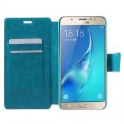Δερμάτινη Θήκη Πορτοφόλι με Βάση Στήριξης για Samsung Galaxy J7 (2016) - Μπλε
