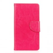 Crazy Horse Wallet Stand Leather Phone Shell for LG G5 /G5 SE - Rose