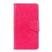 Δερμάτινη Θήκη Πορτοφόλι με Βάση Στήριξης για  LG G5 / G5 SE - Φούξια