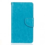Crazy Horse Leather Wallet Stand Phone Pouch for LG G5 /G5 SE - Blue