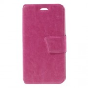 Crazy Horse Leather Shell with Card Holder for LG K7 - Rose