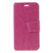 Δερμάτινη Θήκη Πορτοφόλι με Βάση Στήριξης για LG K7 - Φούξια