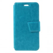 Crazy Horse Leather Phone Case with Card Holder for LG K7 - Blue