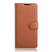 Litchi Grain Leather Wallet Case for LG Stylus 2/LG G Stylo 2 - Brown