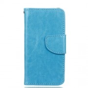 Crazy Horse Leather Wallet Case for Samsung Galaxy A3 SM-A310F (2016) - Blue