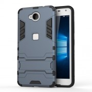 Solid PC + TPU Hybrid Case Shell with Kickstand for Microsoft Lumia 650 / Dual - Dark Blue