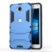 Solid PC + TPU Hybrid Cover Case with Kickstand for Microsoft Lumia 650 / Dual - Baby Blue