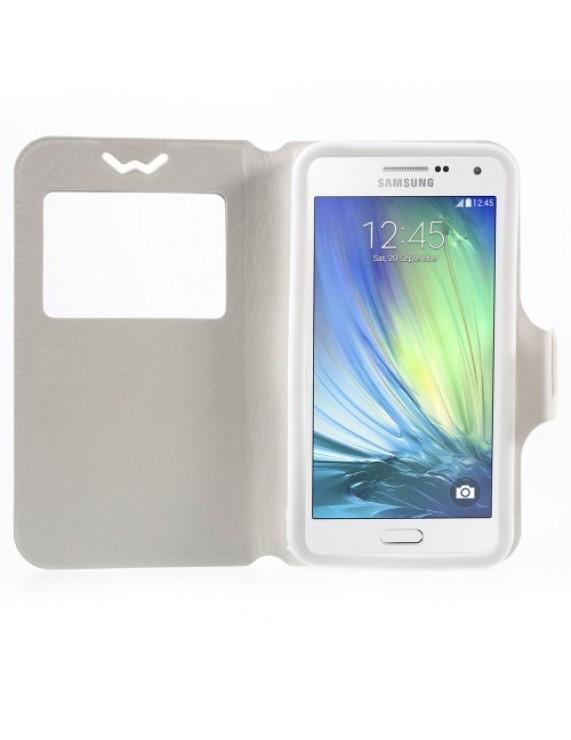 3ab08c6ffe Universal Δερμάτινη Θήκη Βιβλίο Smart Cover με Βάση Στήριξης για Samsung  Galaxy A7 και άλλα κινητά με μέγεθος 151 x 80 x 10mm - Λευκό (50005511) by  stoucky. ...