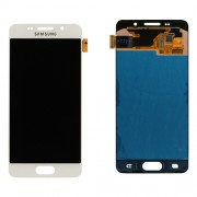 Original Samsung LCD + Digitizer Touch Screen for Samsung Galaxy Α3 (2016) SM-Α310F - White (GH97-18249A)
