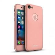 IPAKY Σκληρή Λεπτή Θήκη Καλύπτει Πρόσοψη και Πλάτη (2 τεμάχια) για iPhone 8 / 7 - Ροζέ Χρυσαφί