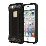 Tough Armor Υβριδική Θήκη Συνδυασμού Σιλικόνης TPU και Πλαστικού για iPhone SE / 5s / 5 - Μαύρο