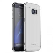 IPAKY Σκληρή Λεπτή Θήκη 3 σε 1 Electroplating για Samsung Galaxy S7 Edge G935 - Ασημί