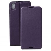 Crazy Horse Vertical Flip Leather Cover for Alcatel OneTouch Idol 4 with Card Slot - Purple