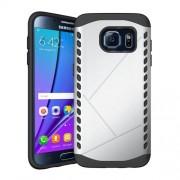 Θήκη Σιλικόνης TPU σε Συνδυασμό με Πλαστικό για Samsung Galaxy S7 edge G935 - Ασημί