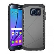 Θήκη Σιλικόνης TPU σε Συνδυασμό με Πλαστικό για Samsung Galaxy S7 edge G935 - Γκρι