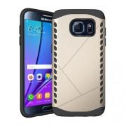 Θήκη Σιλικόνης TPU σε Συνδυασμό με Πλαστικό για Samsung Galaxy S7 edge G935 - Χρυσαφί