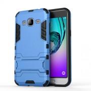 Θήκη Σιλικόνης TPU σε Συνδυασμό με Πλαστικό και Βάση για Samsung Galaxy J3 (2016) - Γαλάζιο