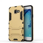 Θήκη Σιλικόνης TPU σε Συνδυασμό με Πλαστικό και Βάση Στήριξης για Samsung Galaxy A3 (2016) - Χρυσαφί