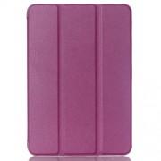 Δερμάτινη Θήκη Βιβλίο Tri-Fold με Βάση Στήριξης για  Galaxy Tab S2 8.0 T715 T710 - Μωβ