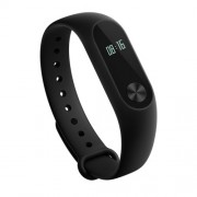 XIAOMI Mi Band 2 Fitness Tracher, Key Control/Heart Rate Monitor - Μαύρο
