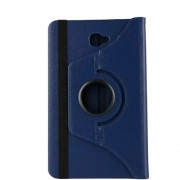 Litchi Skin Rotary Stand PU Leather Case for Samsung Galaxy Tab A 10.1 (2016) T580 T585 - Dark Blue