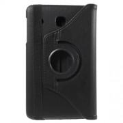 Περιστρεφόμενη Δερμάτινη Θήκη Βιβλίο με Βάση Στήριξης για Samsung Galaxy Tab E 8.0 T375 T377 - Μαύρο
