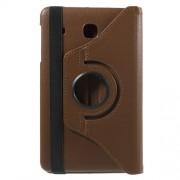 Περιστρεφόμενη Δερμάτινη Θήκη Βιβλίο με Βάση Στήριξης για Samsung Galaxy Tab E 8.0 T375 T377 - Καφέ