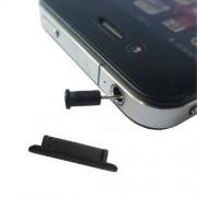 Καλύμματα Αντισκονικά για τη Θύρα Φόρτισης και την Υποδοχή Ακουστικών για iPhone 4 - Μαύρο