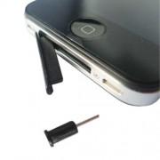 Καλύμματα Αντισκονικά για τη Θύρα Φόρτισης και την Υποδοχή Ακουστικών για iPhone 4 - Λευκό