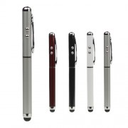 Capacitive Stylus Touch Pen + LED Flashlight + Laser Pointer for The New iPad / For iPhone 5 / 4S / 4 / For iPod Touch For Samsung S 4 IV i9500 etc;Silver
