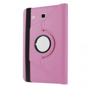 For Samsung Galaxy Tab E 9.6 T560 / T561 Rotary Stand Leather Cover - Pink