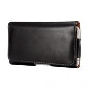 Δερμάτινη Θήκη Πορτοφόλι για τη Ζώνη για iPhone 6s Plus / 6 Plus / Samsung Galaxy Note 5 / Note 4 - Μαύρο