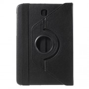 Rotary Stand Leather Flip Case for Samsung Galaxy Tab S2 8.0 T710 T715 - Black