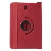 Περιστρεφόμενη Δερμάτινη Θήκη Βιβλίο με Βάση Στήριξης για Samsung Galaxy Tab S2 8.0 T715 T710 - Κόκκινο