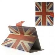 Δερμάτινη Θήκη Βιβλίο με Βάση Στήριξης για iPad mini 2 3 / Samsung Galaxy Tab 8 T310 T330 (21,5 x 14cm) και Άλλα Tablets με Αυτές τις Διαστάσεις - Μοτίβο Αγγλική Σημαία