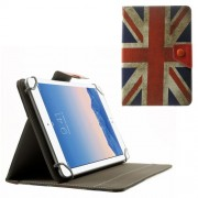 Retro UK Flag Universal Leather Stand Case for Amazon Fire HD 7 / Samsung Galaxy Tab 4 7.0 T230 etc. Size: 20.3 x 14cm