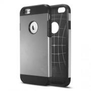 Θήκη Σιλικόνης TPU με Σκληρή Πλάτη με Ανάγλυφο Σχέδιο στο Εσωτερικό για iPhone 6 Plus / 6s Plus - Γκρι