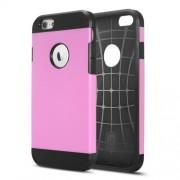 Θήκη Σιλικόνης TPU με Σκληρή Πλάτη με Ανάγλυφο Σχέδιο στο Εσωτερικό για iPhone 6 Plus / 6s Plus - Ροζ